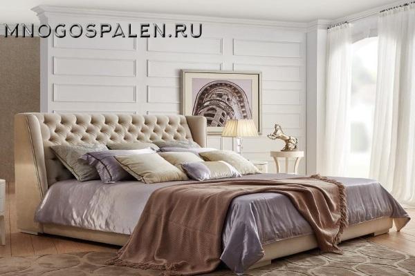 Кровать с решеткой купить в салоне-студии мебели Барселона mnogospalen.ru много спален мебель Италии классические современные
