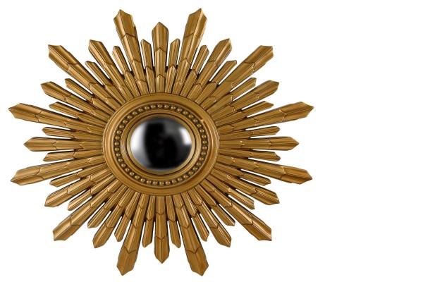 Зеркало-солнце New Solar Gold купить в салоне-студии мебели Барселона mnogospalen.ru много спален мебель Италии классические современные