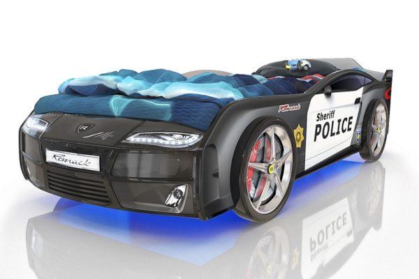 Кровать-машинка Romack Kiddy Полиция купить в салоне-студии мебели Барселона mnogospalen.ru много спален мебель Италии классические современные
