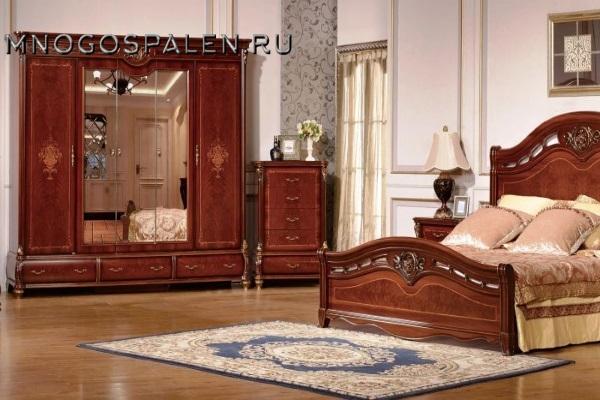 Спальня Маргарита купить в салоне-студии мебели Барселона mnogospalen.ru много спален мебель Италии классические современные