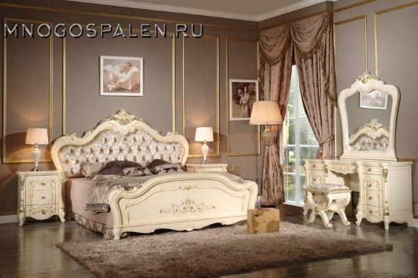 Cпальня КОРСИКА купить в салоне-студии мебели Барселона mnogospalen.ru много спален мебель Италии классические современные