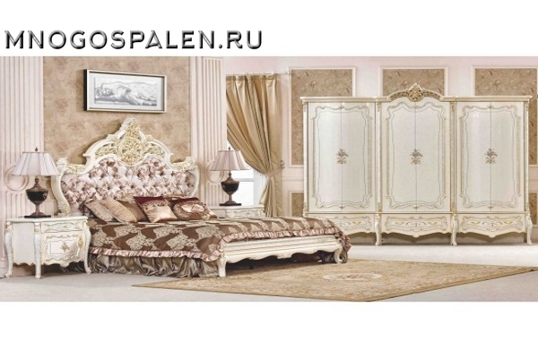Cпальня  София   3877 купить в салоне-студии мебели Барселона mnogospalen.ru много спален мебель Италии классические современные