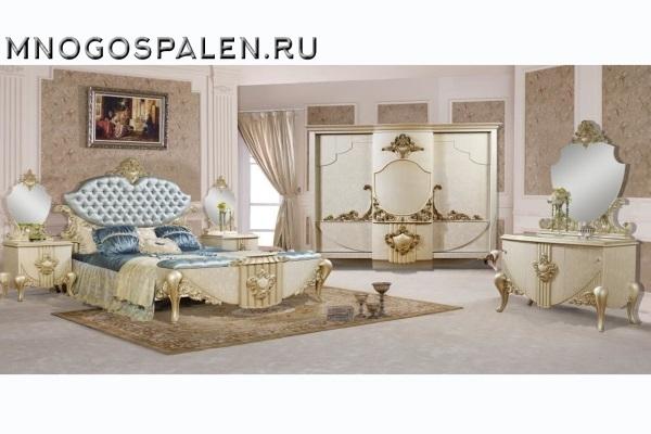 Cпальня Аталанта 3905 купить в салоне-студии мебели Барселона mnogospalen.ru много спален мебель Италии классические современные