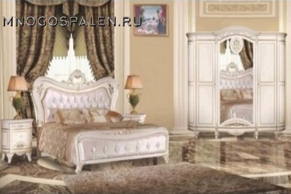 Cпальня Катания 3908W купить в салоне-студии мебели Барселона mnogospalen.ru много спален мебель Италии классические современные