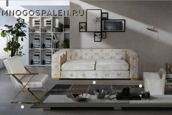 Диван LOUIS купить в салоне-студии мебели Барселона mnogospalen.ru много спален мебель Италии классические современные