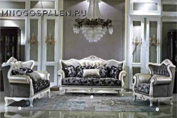 ДИВАН BRIGITTE-3 купить в салоне-студии мебели Барселона mnogospalen.ru много спален мебель Италии классические современные