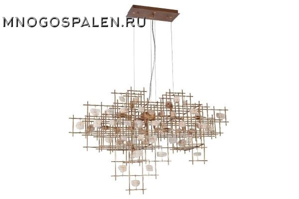 Подвесной светильник Crystal Lux Diego SP9 L1000 Gold купить в салоне-студии мебели Барселона mnogospalen.ru много спален мебель Италии классические современные