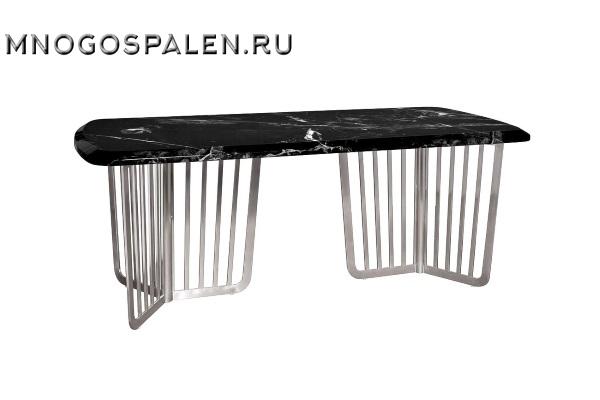Стол обеденный черный (искусственный мрамор) купить в салоне-студии мебели Барселона mnogospalen.ru много спален мебель Италии классические современные