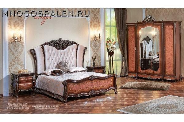Спальня Сандра купить в салоне-студии мебели Барселона mnogospalen.ru много спален мебель Италии классические современные