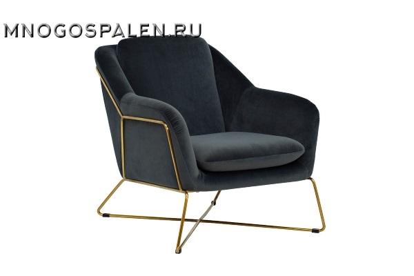 Кресло на металлическом каркасе велюровое темно-серое купить в салоне-студии мебели Барселона mnogospalen.ru много спален мебель Италии классические современные