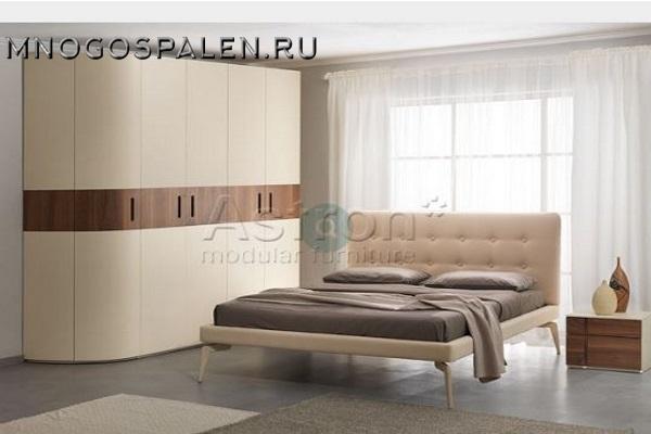 Спальня в бежевых тонах  I014 Astron купить в салоне-студии мебели Барселона mnogospalen.ru много спален мебель Италии классические современные