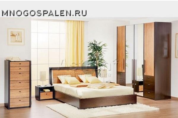 Мебель для спальни в цвете венге G111 Astron купить в салоне-студии мебели Барселона mnogospalen.ru много спален мебель Италии классические современные