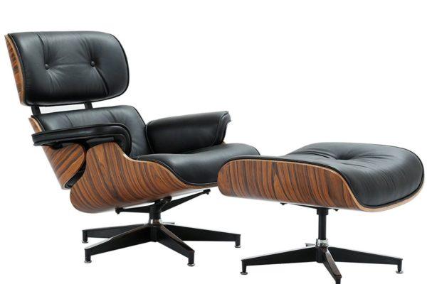 Кресло EAMES LOUNGE CHAIR чёрный купить в салоне-студии мебели Барселона mnogospalen.ru много спален мебель Италии классические современные