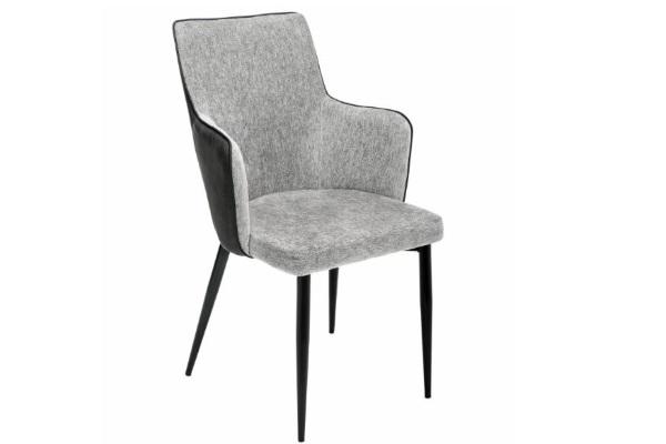 Стул Benza grey fabric / black купить в салоне-студии мебели Барселона mnogospalen.ru много спален мебель Италии классические современные