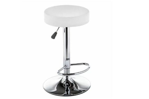 Барный стул Logo белый купить в салоне-студии мебели Барселона mnogospalen.ru много спален мебель Италии классические современные