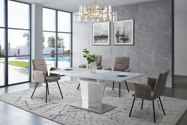 Стол RAZI-M FSD1906M белый купить в салоне-студии мебели Барселона mnogospalen.ru много спален мебель Италии классические современные