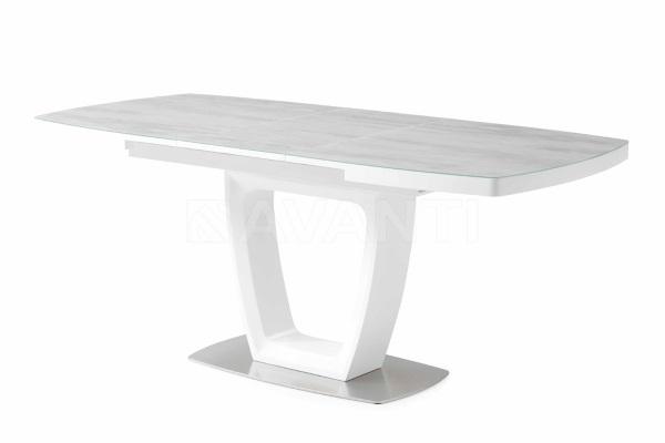 Стол обеденный JUMP белый/серое стекло купить в салоне-студии мебели Барселона mnogospalen.ru много спален мебель Италии классические современные