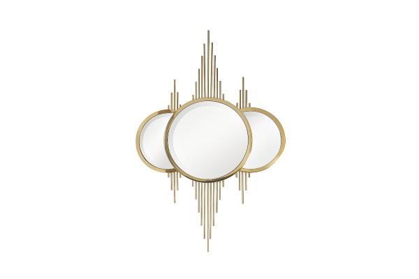 Зеркало декоративное золотое KFE1230 купить в салоне-студии мебели Барселона mnogospalen.ru много спален мебель Италии классические современные