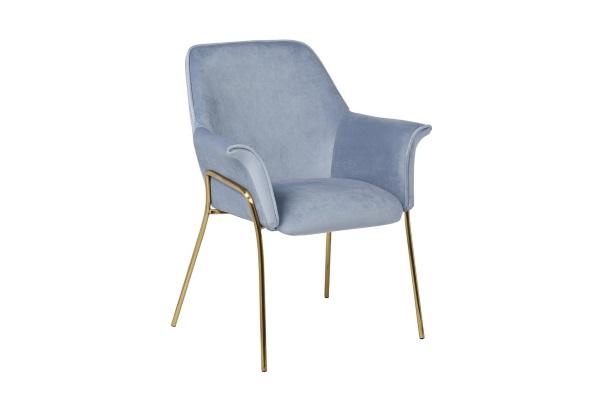 Кресло велюровое серо-голубое на металлических ножках 30C-1127-Z LBL купить в салоне-студии мебели Барселона mnogospalen.ru много спален мебель Италии классические современные